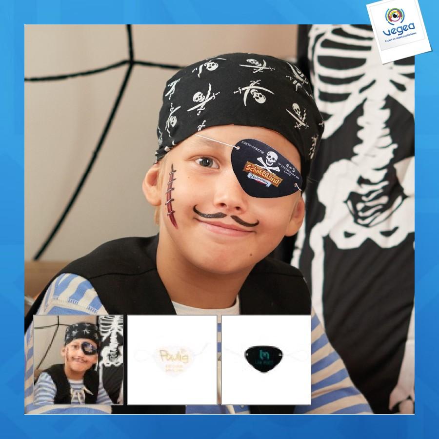 Bandeau de pirate en carton et oeil de pirate