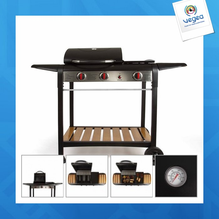 Barbecue publicitaire  gaz gril et plancha
