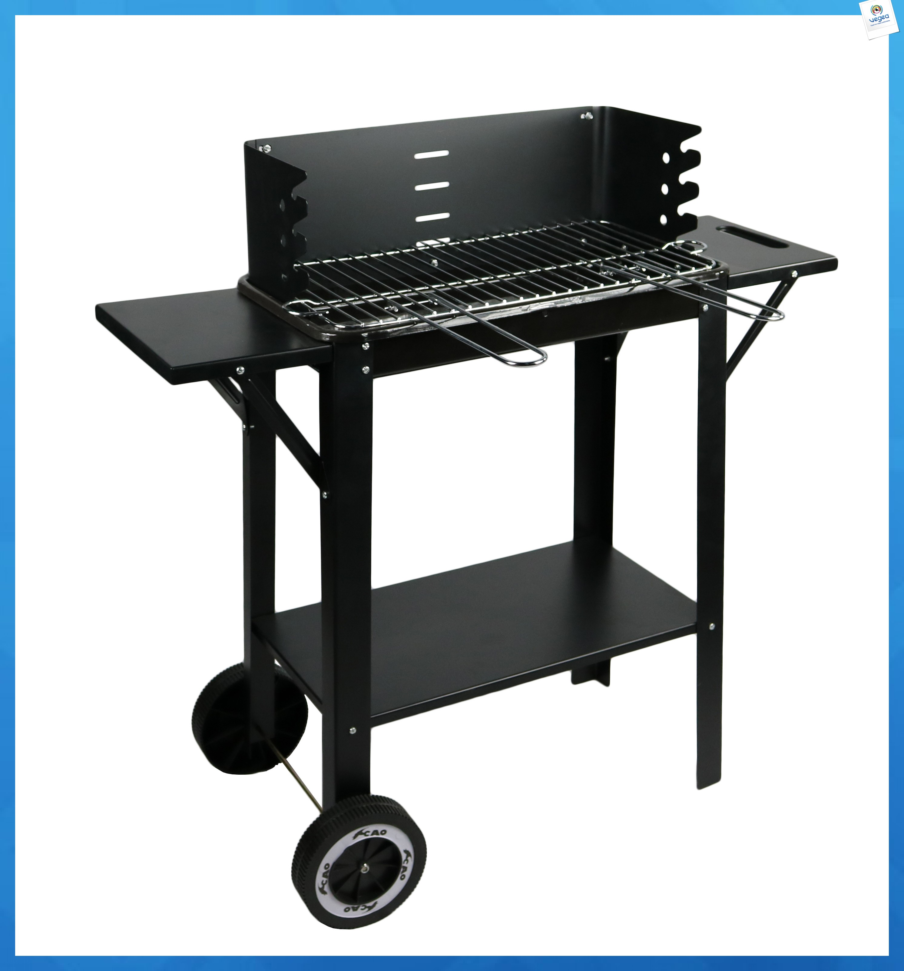 Barbecue personnalisable wagon tablettes gourmet