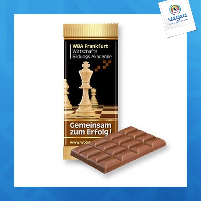 Barre de chocolat avec logo  super-maxi kraft foods