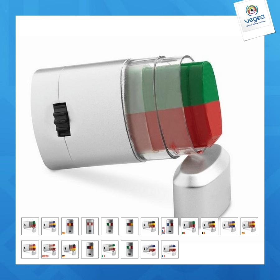 Baton de maquillage publicitaire tricolore