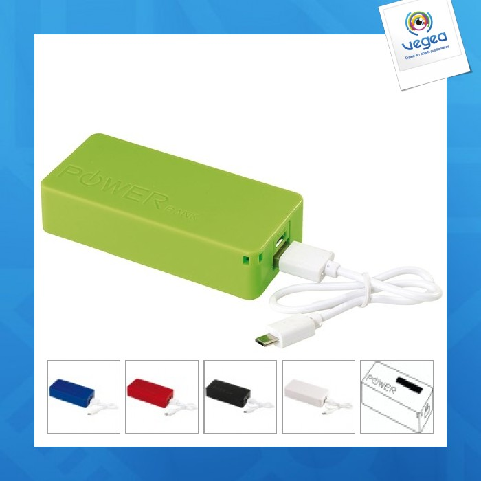 Batterie de secours avec personnalisation  4.000 mah
