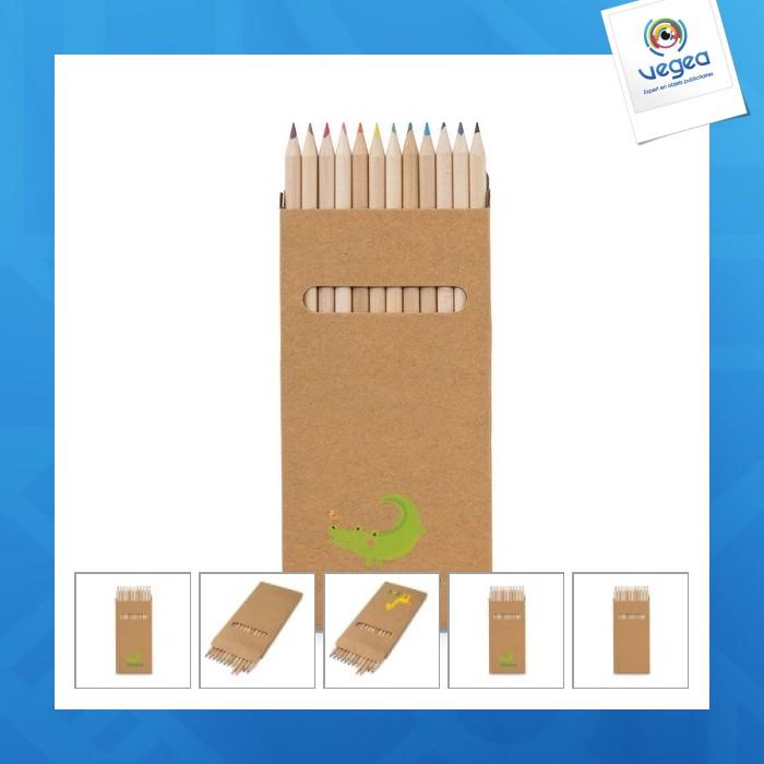 Boîte 12 grands crayons