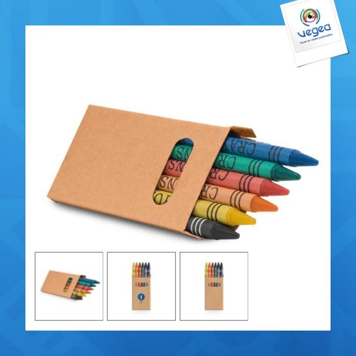 Boîte 6 crayons de cire