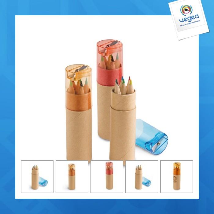 Boîte 6 crayons de couleur publicitaires