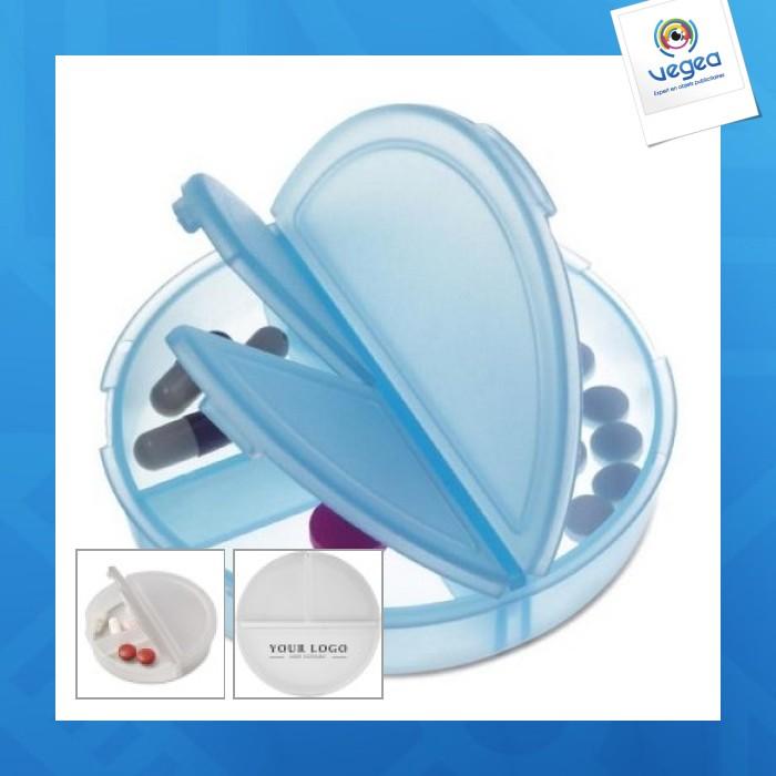 Boîte à pilules ronde 3 compartiments