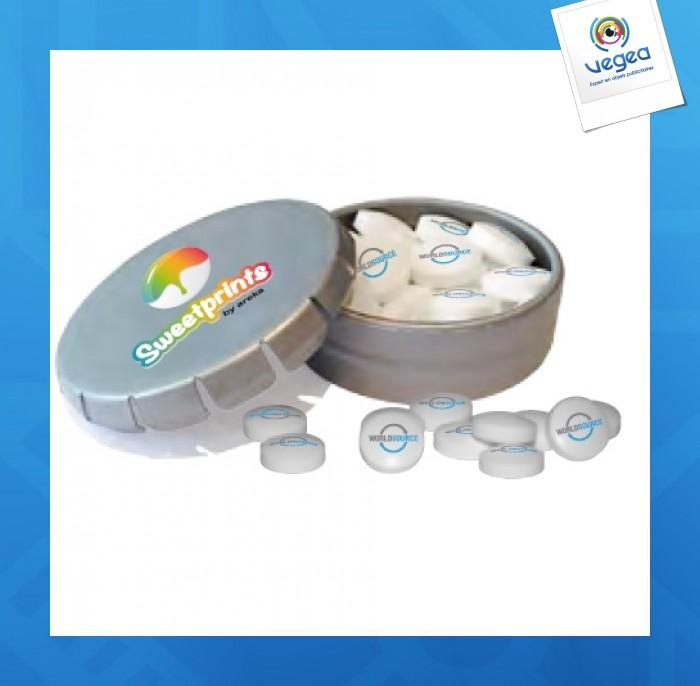 Boîte clic clac avec bonbons imprimés
