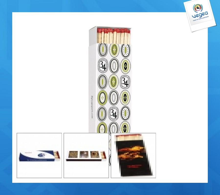 Boite d'allumettes publicitaire longues pour cheminée