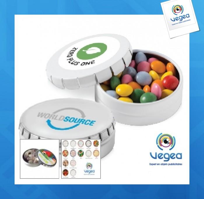 Boîte de bonbons personnalisable  clic clac 76mm
