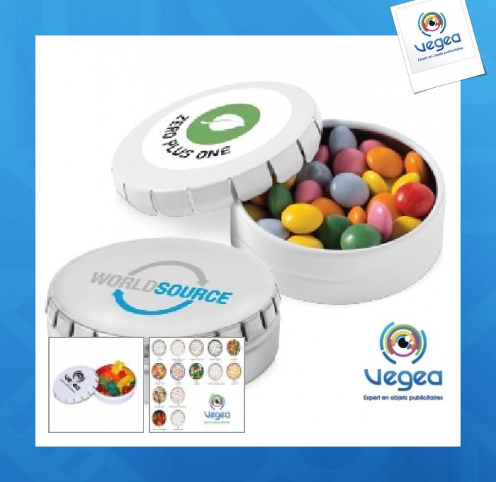 Boîte de bonbons personnalisée clic clac 53mm