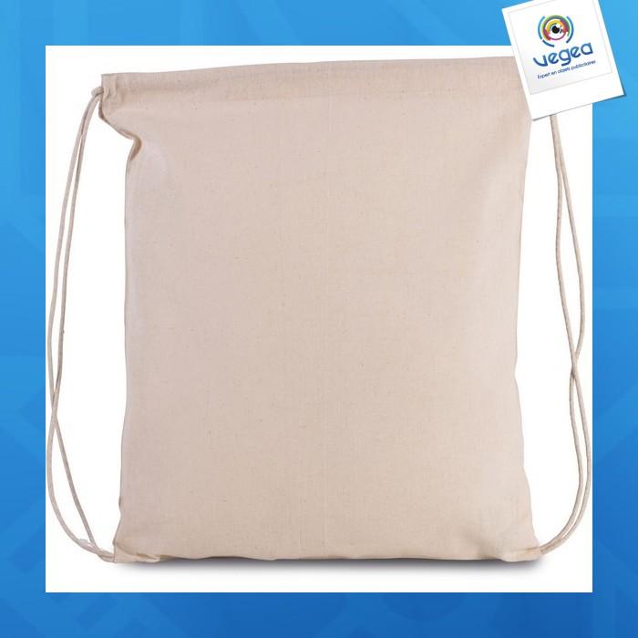 Bolsa de algodón orgánico con cordón