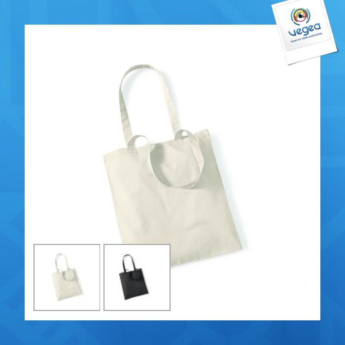 Bolsa de compras de algodón orgánico - bolsa de mano natural