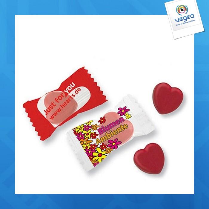 Bonbons en forme de coeur kalfany