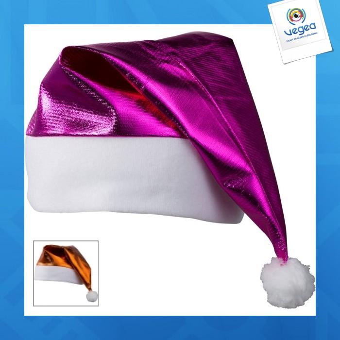Bonnet avec logo  de père noël brillant