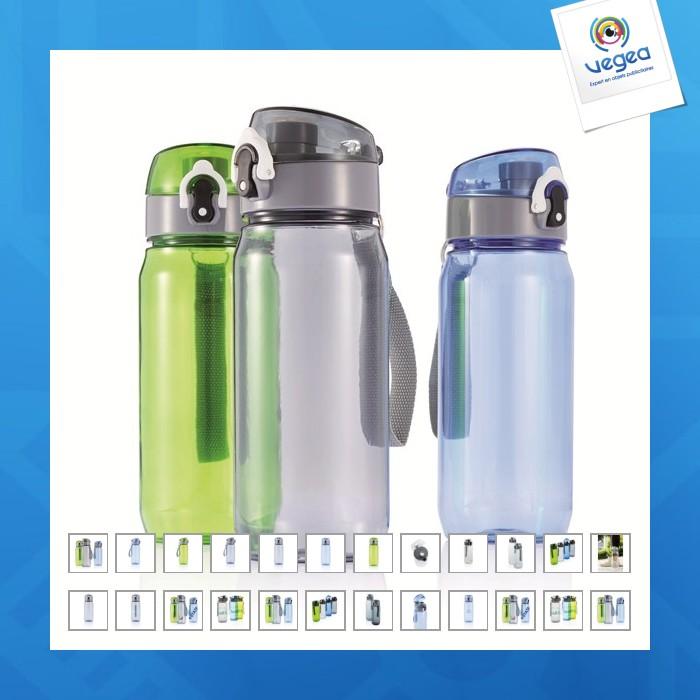Botella personalizable de tritan 600 ml con correa