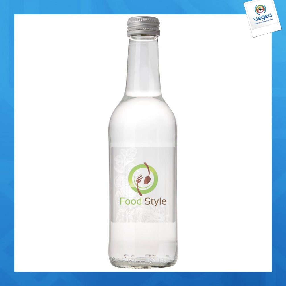 Bouteille d'eau en verre - 33cl