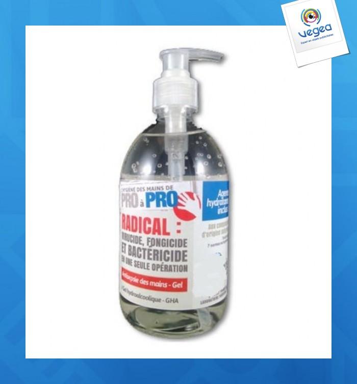Bouteille de gel hydroalcoolique à pompe 500 ml