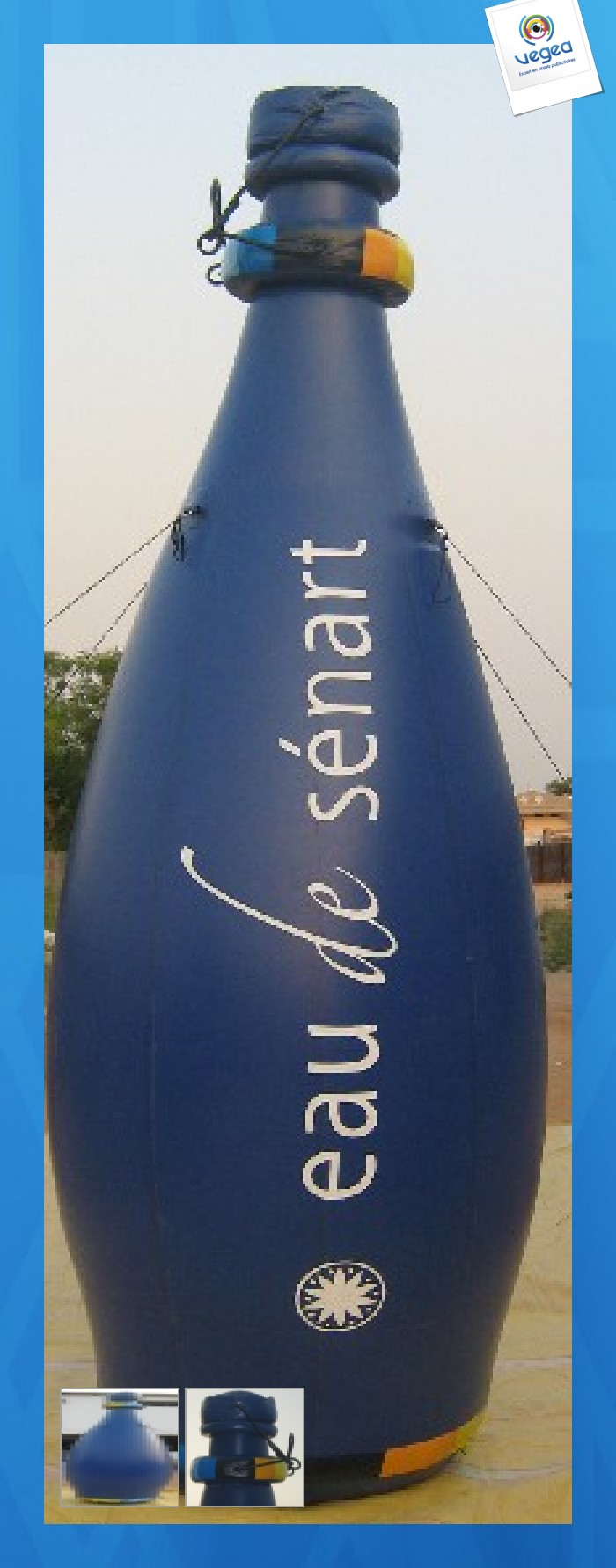Bouteille gonflable publicitaire  auto-ventilée