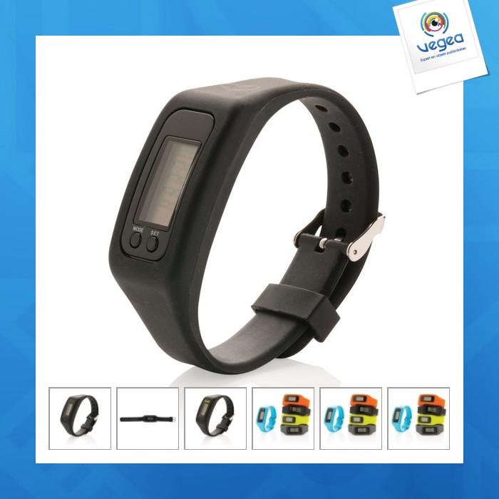 Bracelet podomètre avec logo