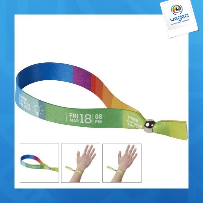 Bracelet quadri avec bague de réglage