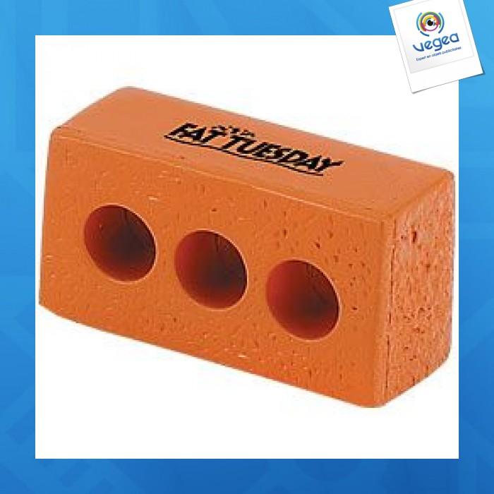 Brique personnalisable 01377v0040288 partir de 1 62 euros ht - Objet anti stress bureau ...