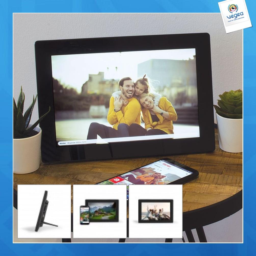 Cadre photo numérique personnalisable connecté