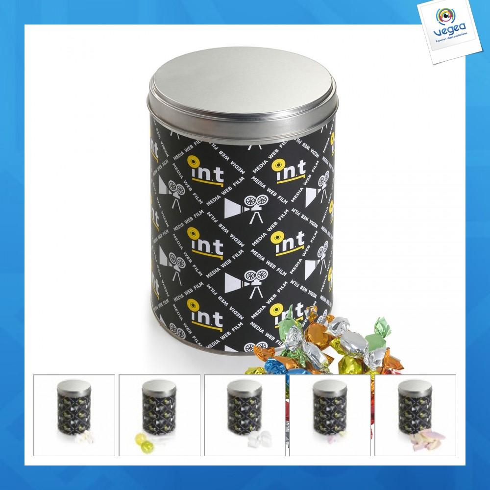 Caja de metal de 1,3l con caramelos
