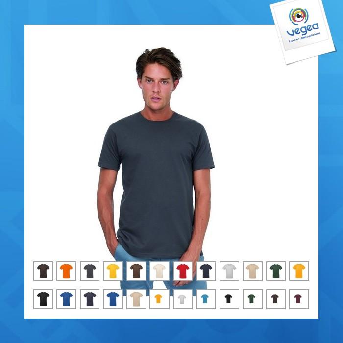 Camiseta 180g premium b&c