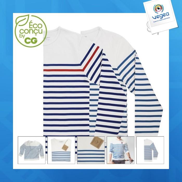 Camiseta ml marinière de promoción bio