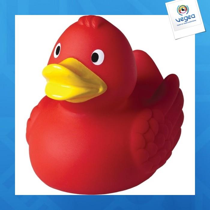 Canard personnalisé  couinant rouge.