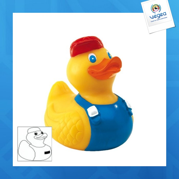 Canard logoté pour le bain bob
