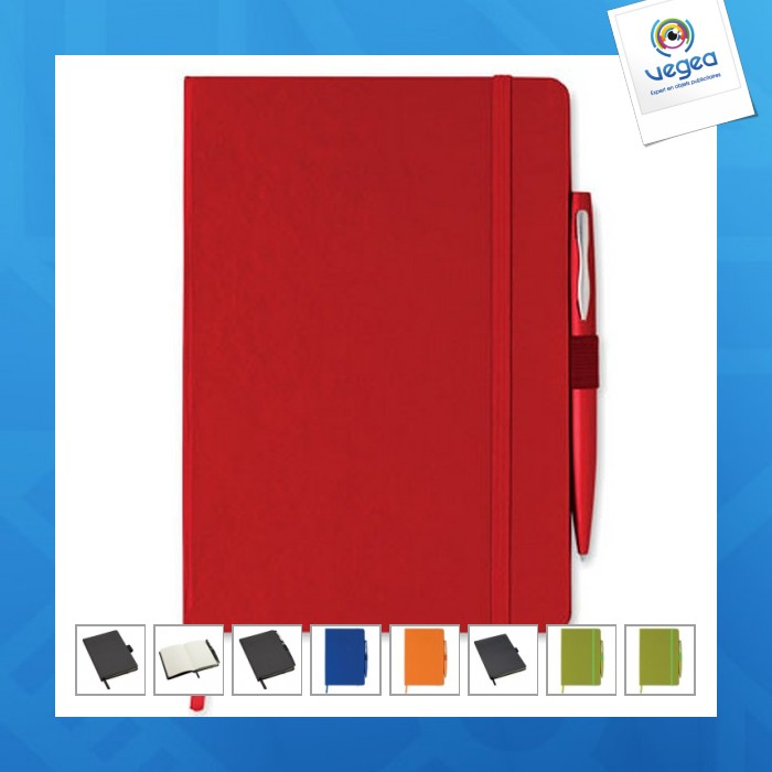 Carnet personnalisé a5 à couverture rigide avec stylo