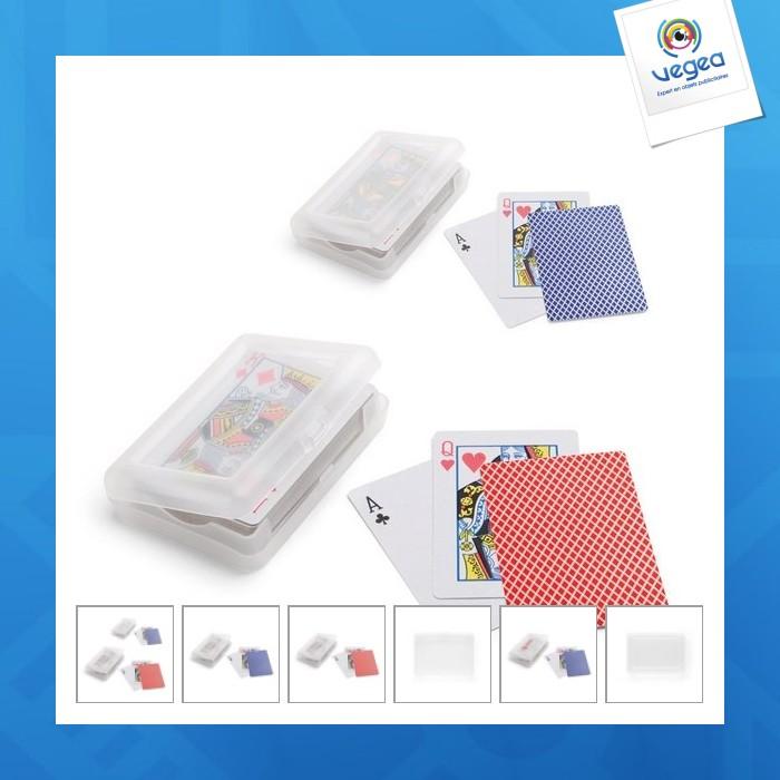 Cartes à jouer personnalisables  sous étui plsatique