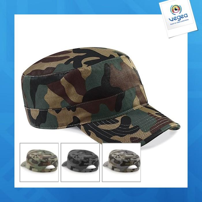 b84b52172b Casquette publicitaire personnalisée armée de camouflage beechfield ...