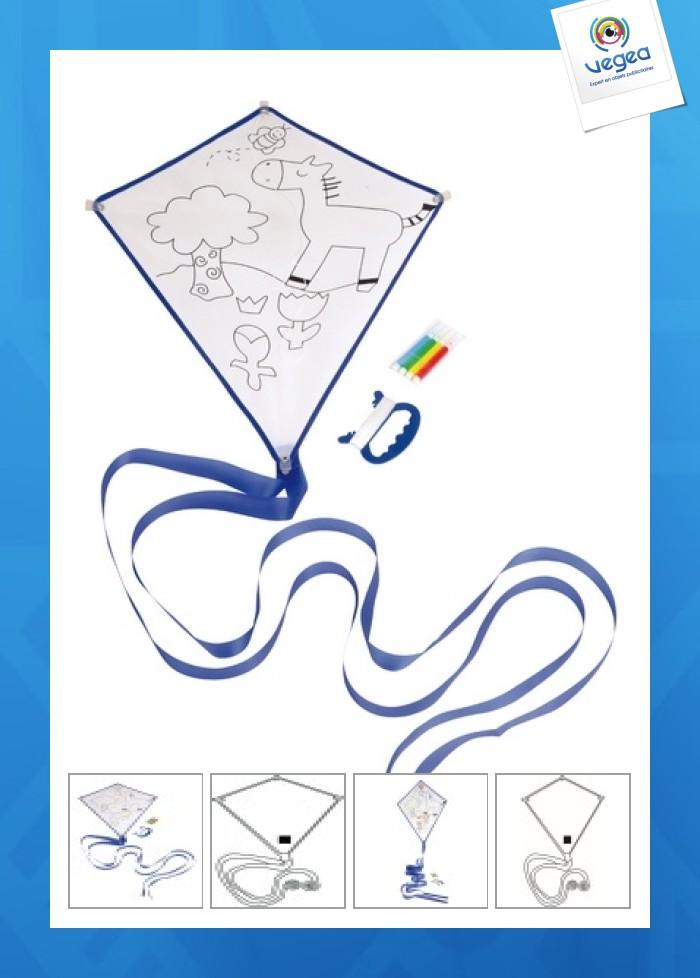 Cerf-volant personnalisable à colorier artistic