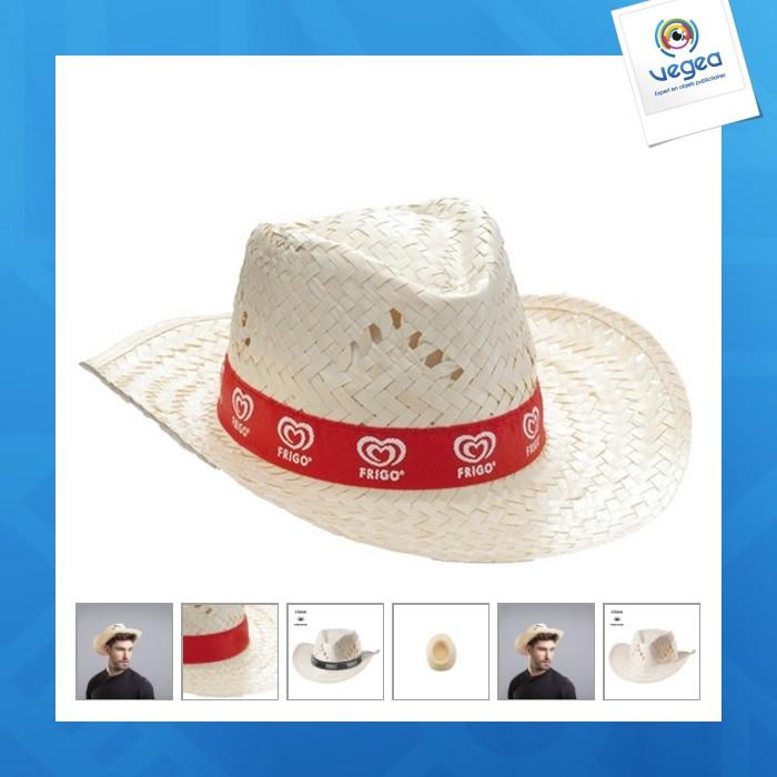 Chapeau de paille personnalisé en palme claire