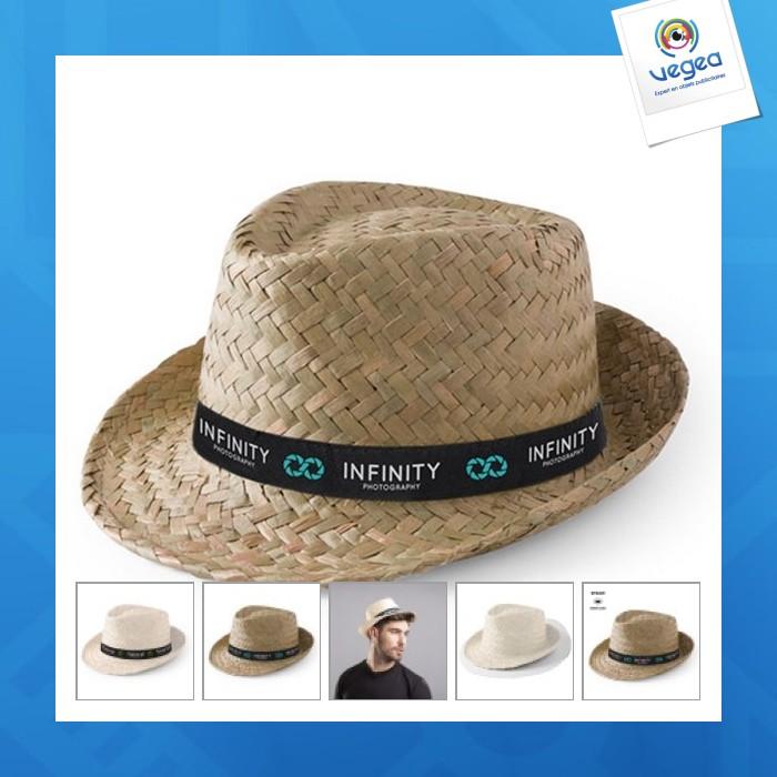 Chapeau de paille personnalisable  zelio