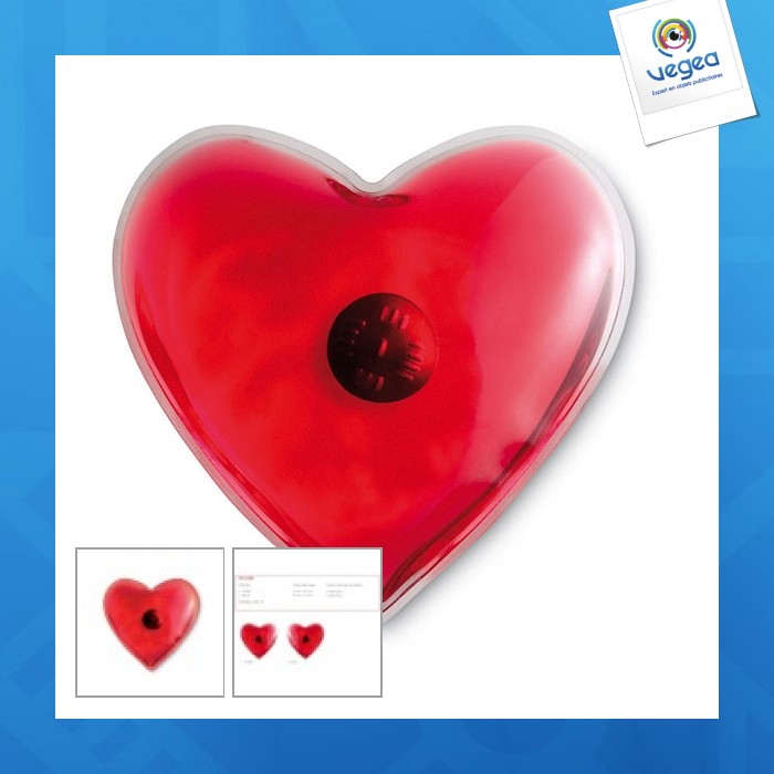 Chaufferette personnalisée en forme de coeur