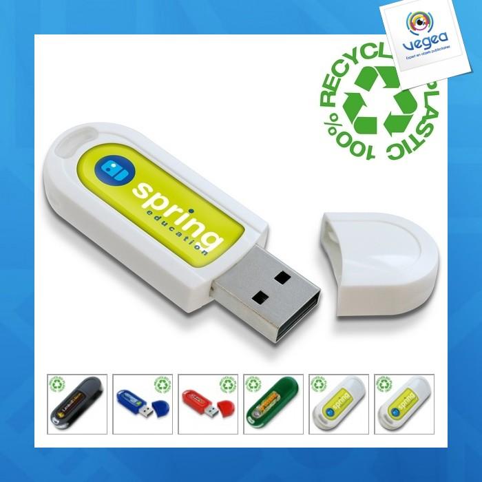 Clé usb personnalisée plastique recyclé