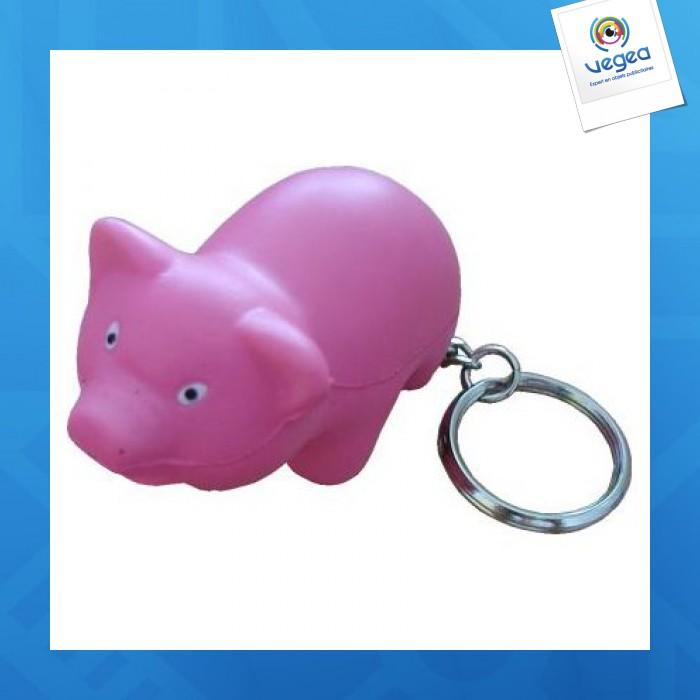 Cochon porte cl s personnalisable 01377v0040380 partir de 0 89 euros ht - Objet anti stress bureau ...