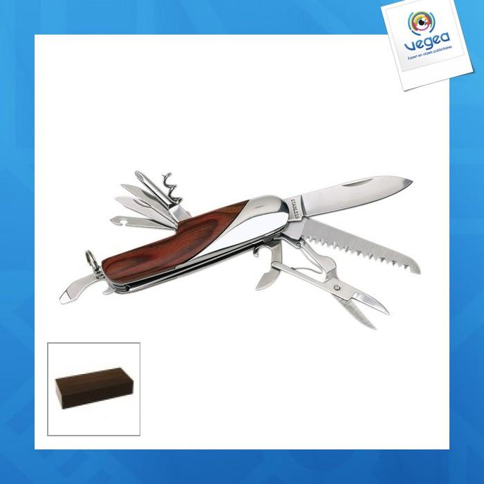 Couteau de poche en bois, 11 pièces