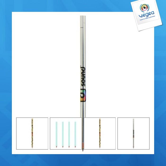 Crayon à papier personnalisable finition métallisée