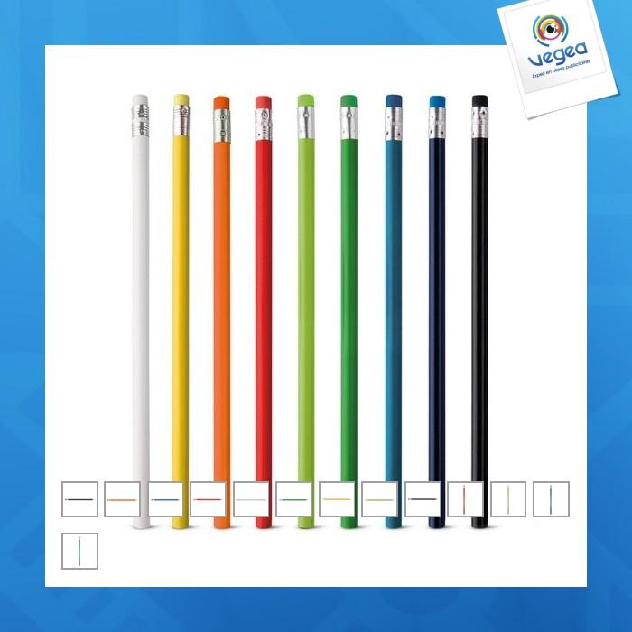 Crayon à papier logoté coloré
