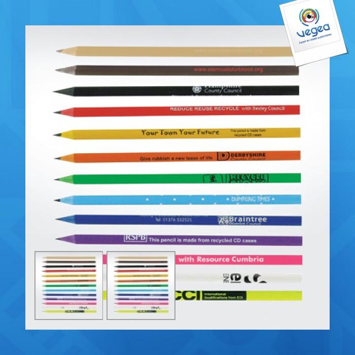 Crayon recyclé personnalisé cd case