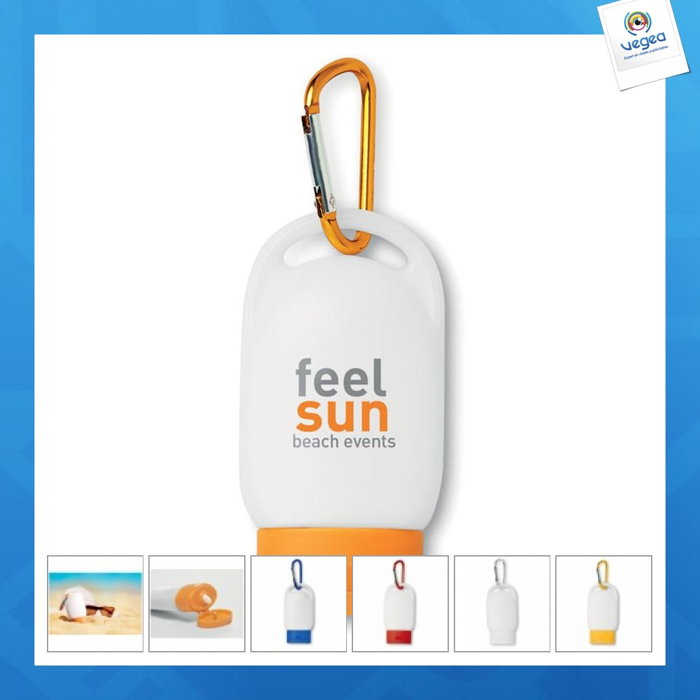 Crème solaire personnalisée publicitaire 30ml - indice 25