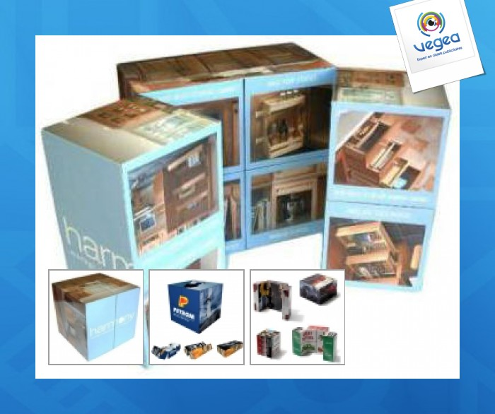 Cube magique 5 cm / puzzle magique 9 faces