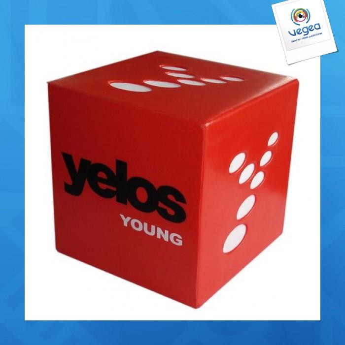 Cube personnalisable 01377v0040412 partir de 7 03 euros ht - Objet anti stress bureau ...