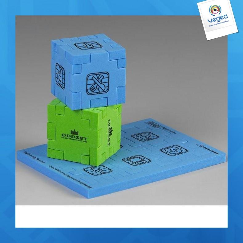 Cube puzzle avec personnalisation  en mousse