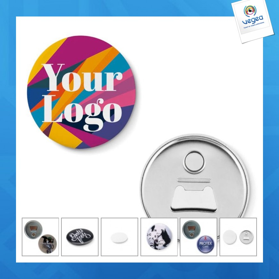 Décapsuleur avec logo  magnet bouton