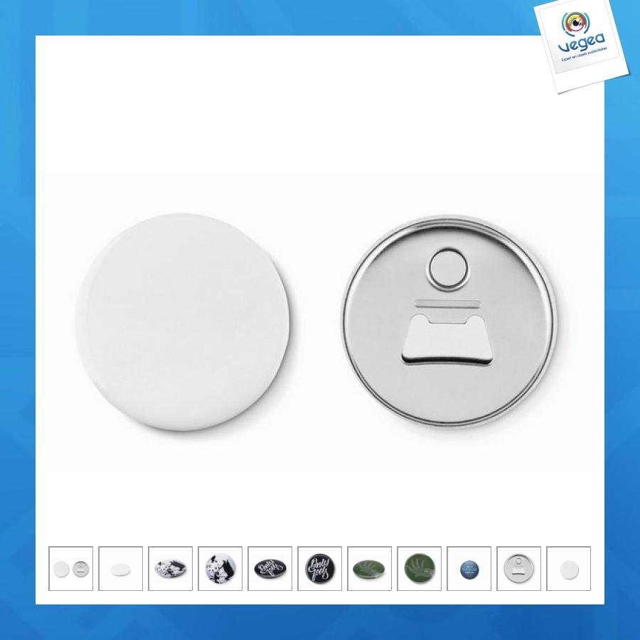 Décapsuleur publicitaire magnet bouton